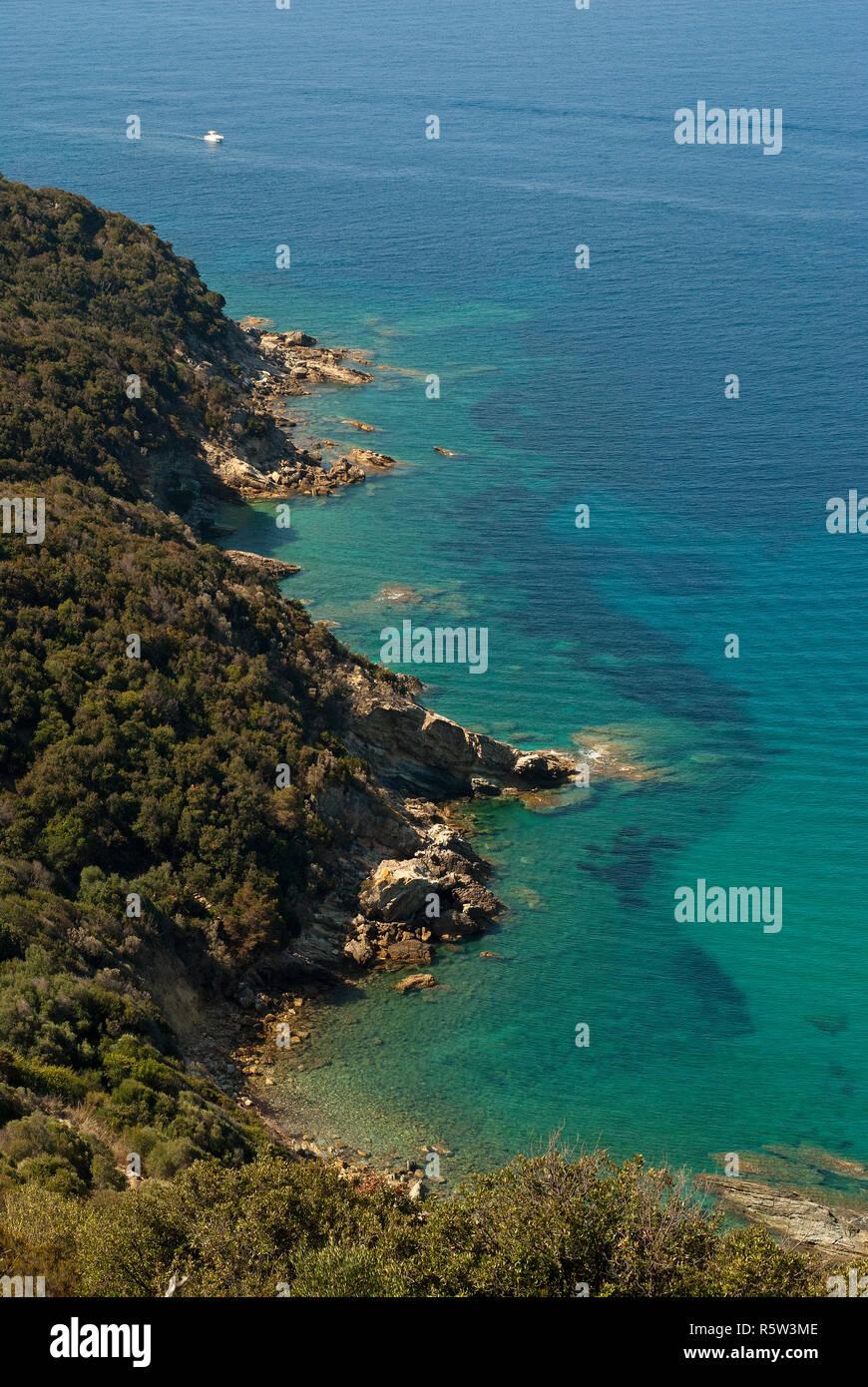Mount Argentario coast, Grosseto, Tuscany, Italy - Stock Image