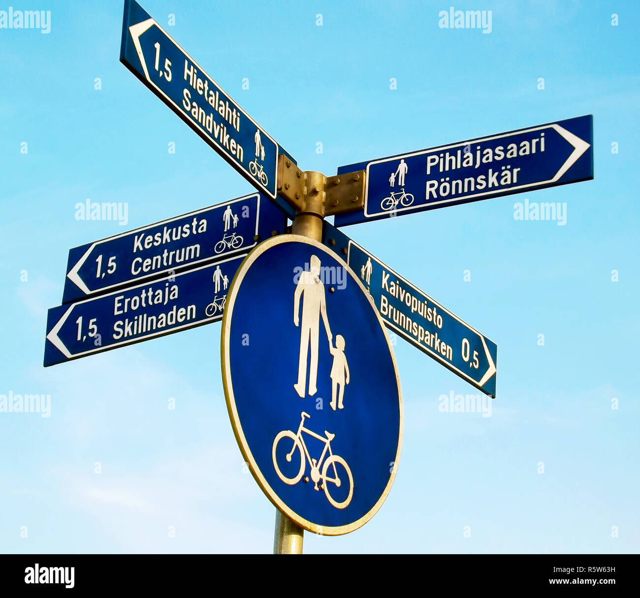Directions and distances - Stock Image