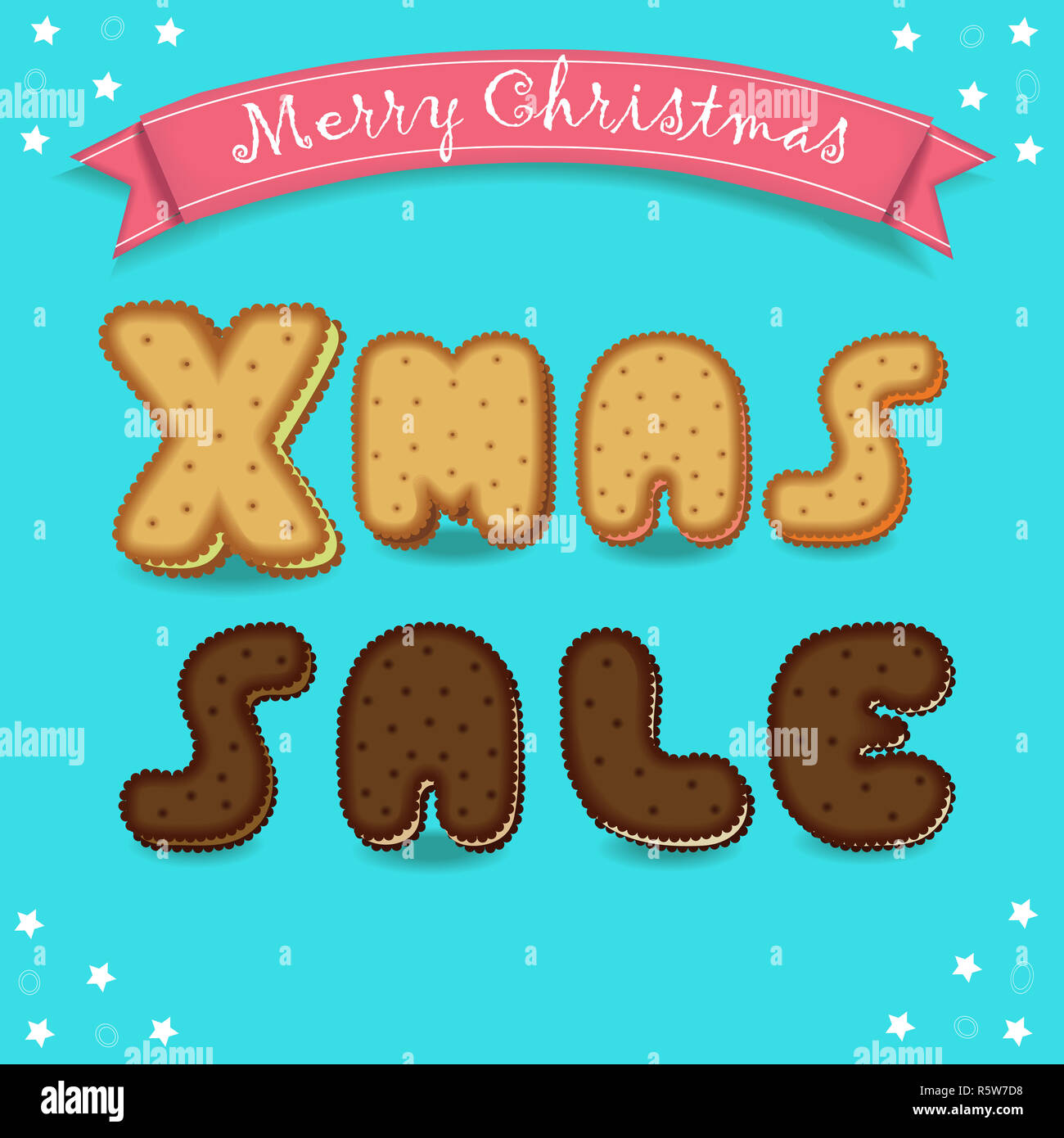Xmas Sale Merry Christmas Cookies Font Stock Photo 227362724 Alamy