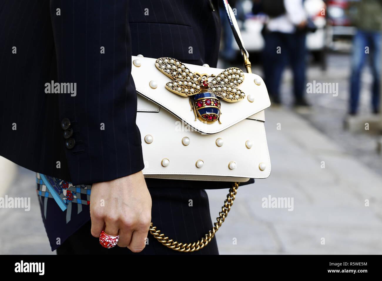25e3b309131 Bee Gucci Bag - Paris Fashion Week RTW SS 2019 - Paris - France ...