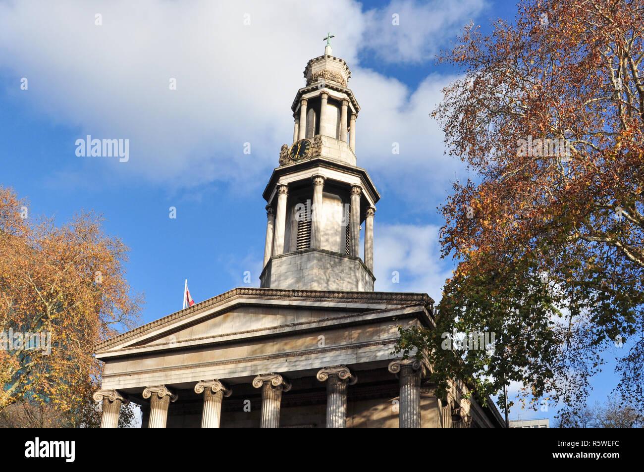 St Pancras New Church, Euston Road, London, England, UK - Stock Image