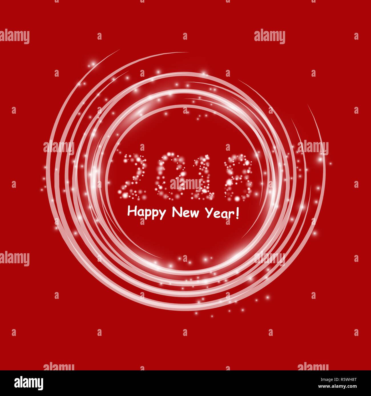 happy 2018 new year flyer greeting card invitation menu design template vector illustration