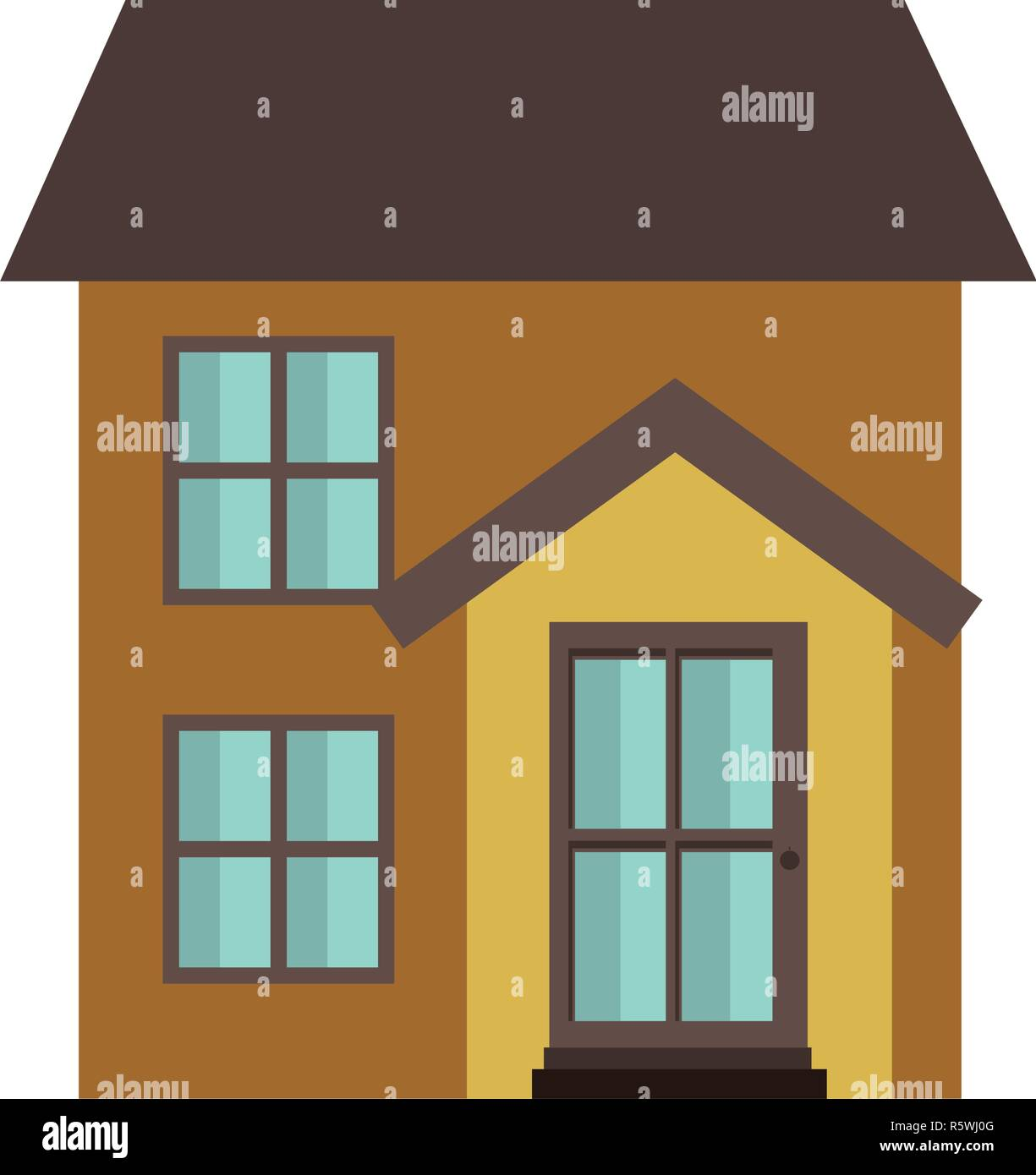 house with front view isolated icon Stock Vector