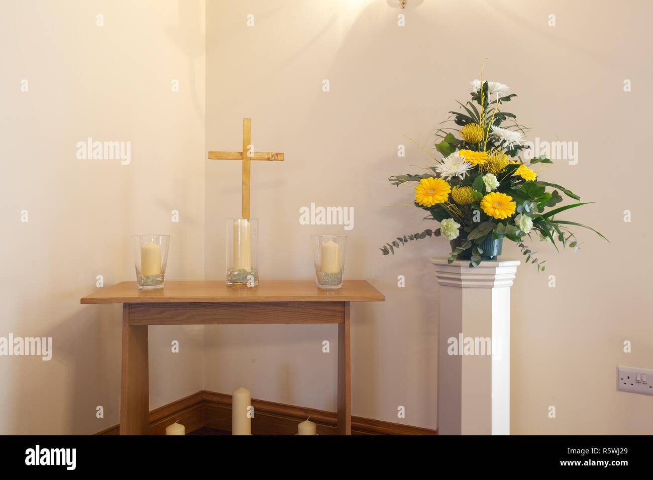 Crematorium chapel - Stock Image