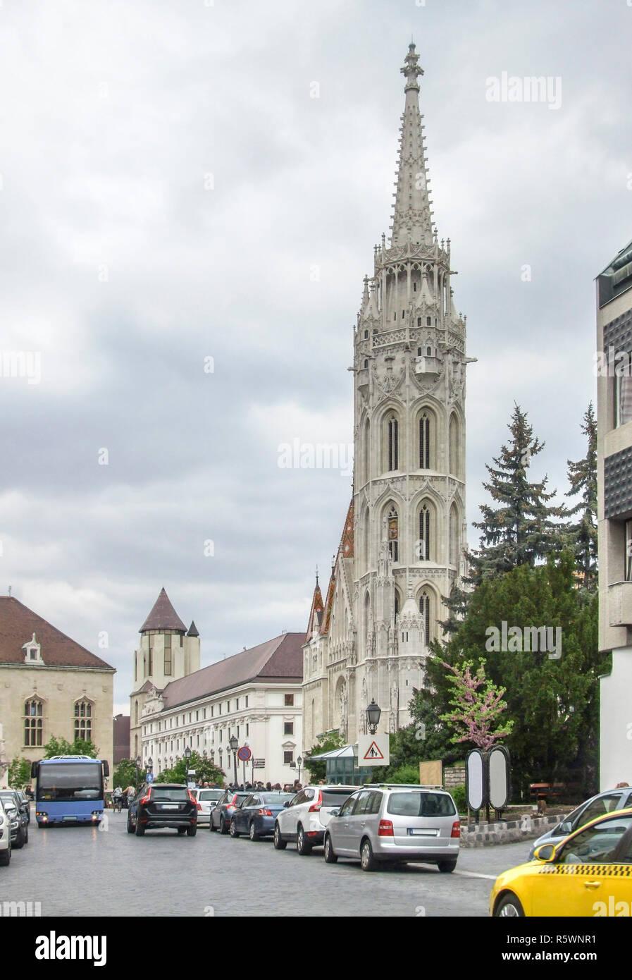 matthias church in budapest - Stock Image