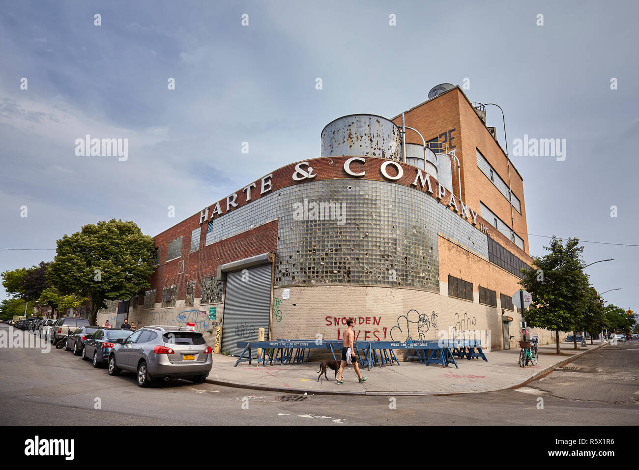 New York, USA - July 04, 2018: Harte & Company former factory, one of the Greenpoint iconic buildings. - Stock Image
