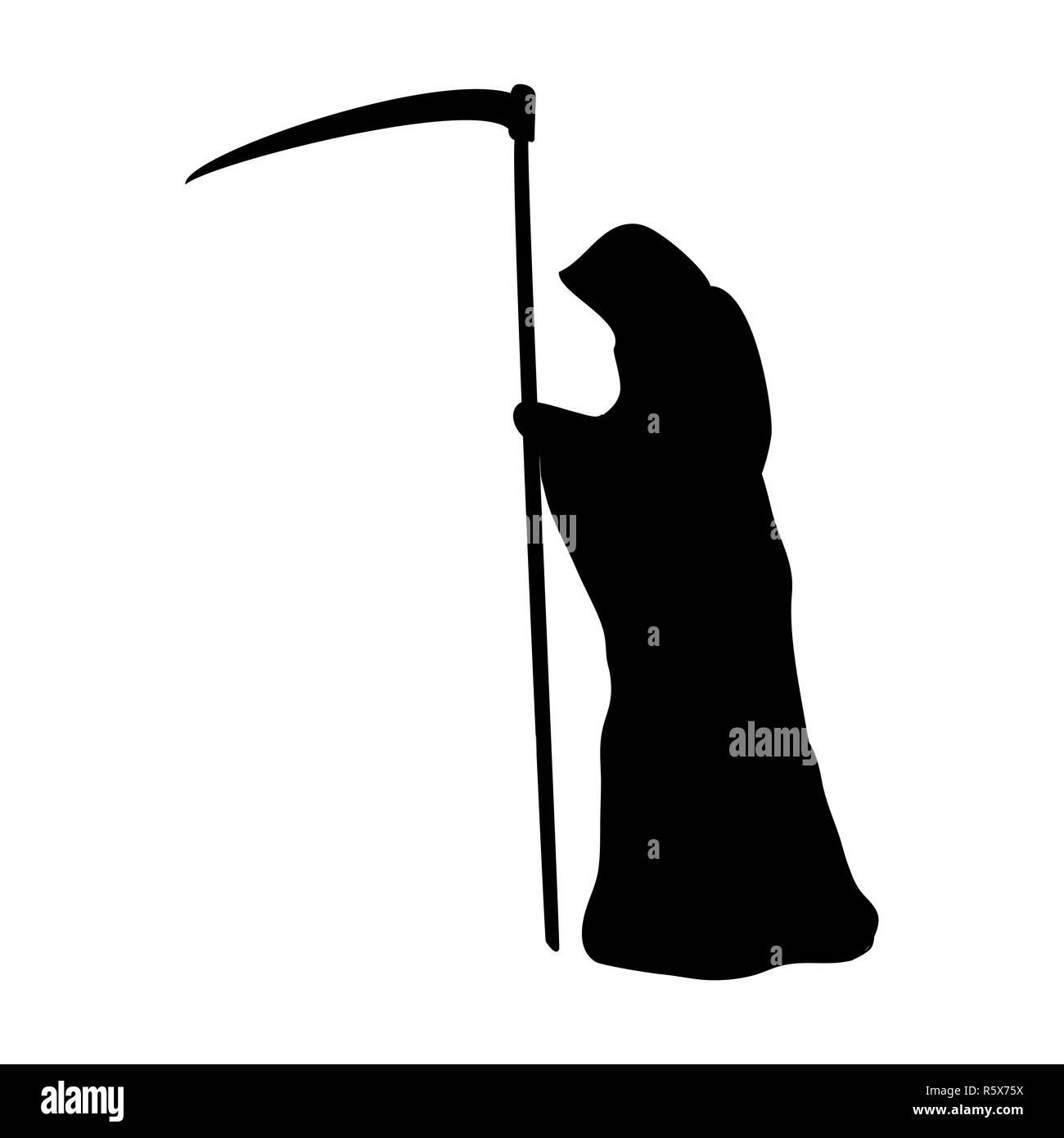Death silhouette scary monster fantasy - Stock Image
