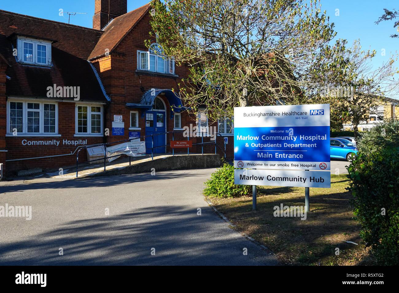 Marlow Community Hospital, Buckinghamshire, England United Kingdom UK - Stock Image