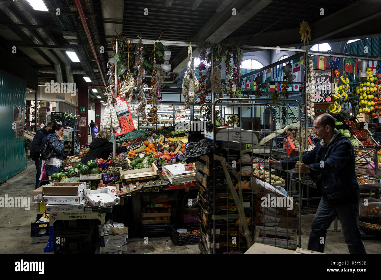 Mercato Centrale, Florence, Italy on May 2, 2016. - Stock Image