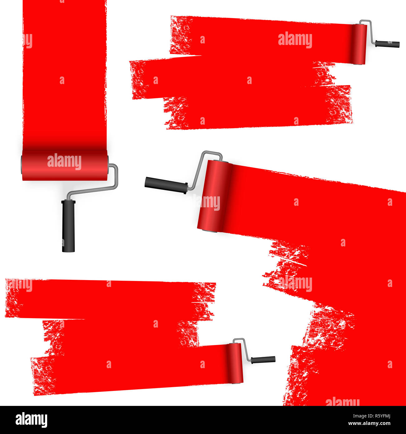 paint roller with marks Stock Photo: 227413106 - Alamy
