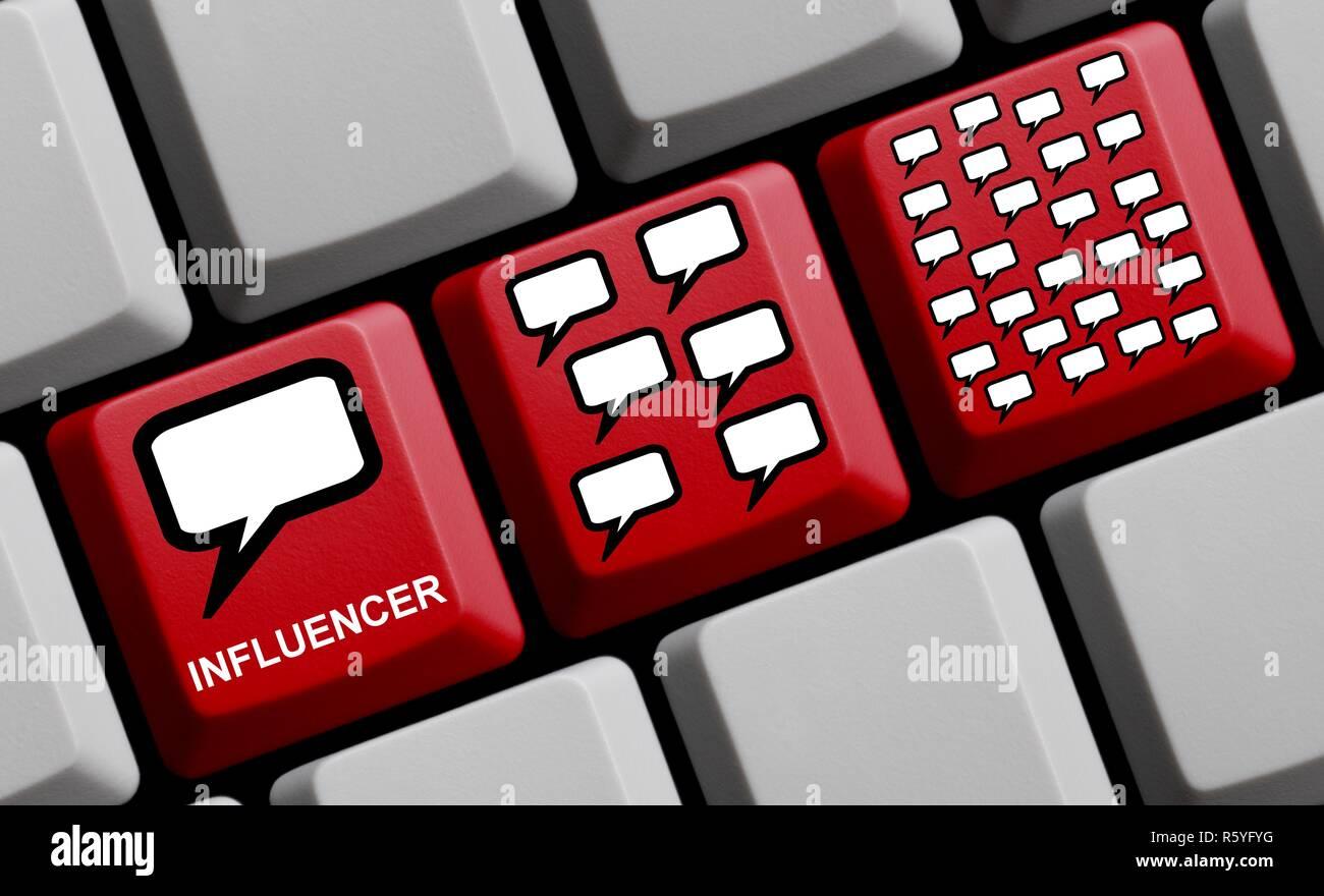 influencer marketing online - Stock Image