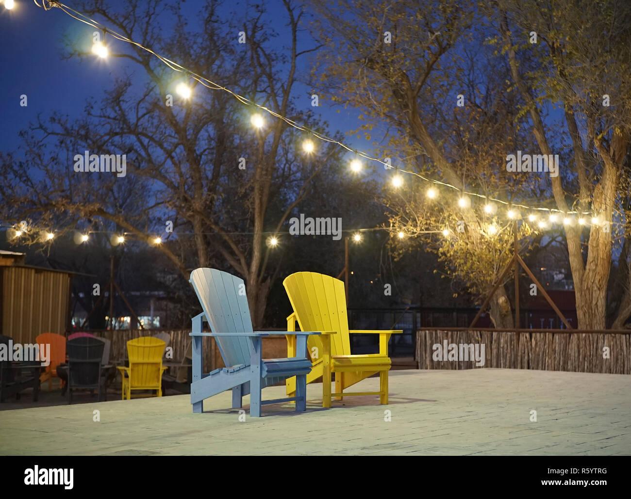Prime Empty Chair On An Outdoor Concrete Dance Floor In Alpine Spiritservingveterans Wood Chair Design Ideas Spiritservingveteransorg