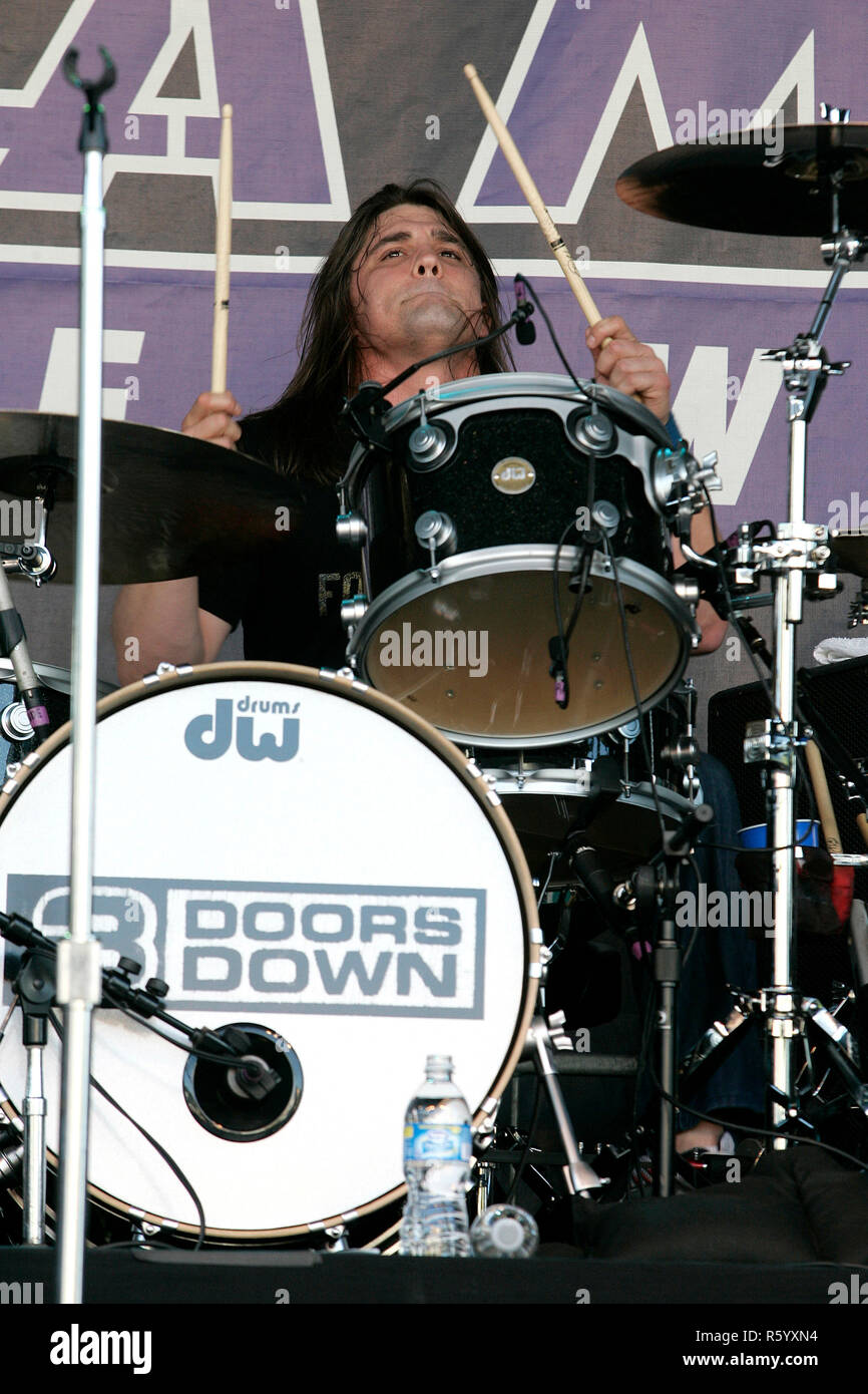 Greg Upchurch with 3 Doors Down performs in concert prior to