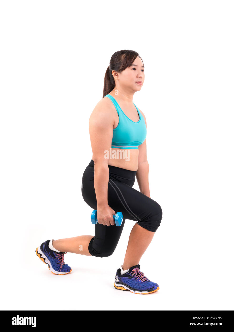 1da26c62aab5b Overweight Woman Exercise Asian Stock Photos   Overweight Woman ...