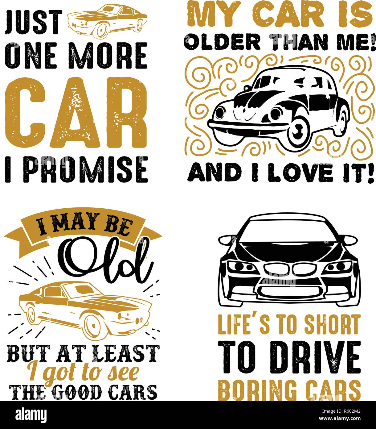 funny car saying quote vector best for clothing design
