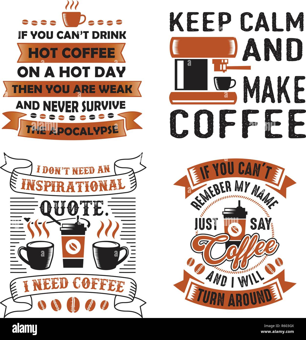Funny Coffee Quote and Saying. 100 vector best for graphic ...