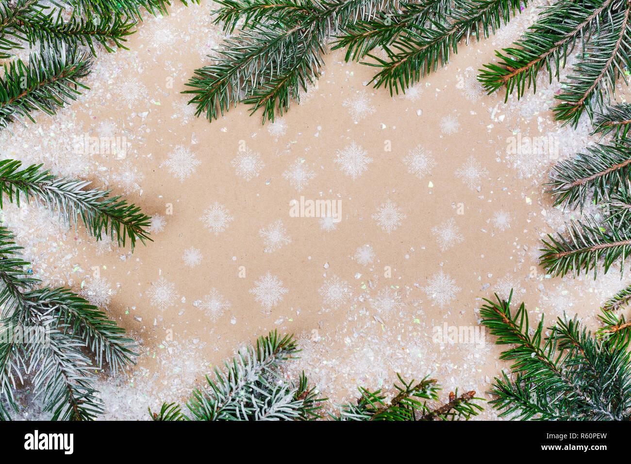 Winter holiday background - Stock Image