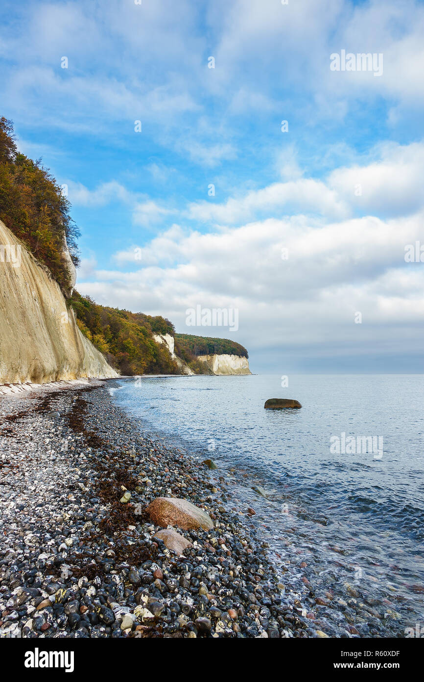 The Baltic Sea Coast On The Island Of Ra Gen In Autumn Stock Photo