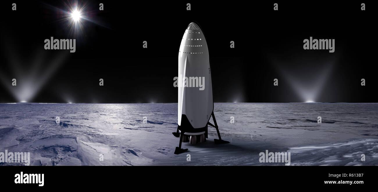 SpaceX, Interplanetary Transport System 2.jpg - R613B7 - Stock Image