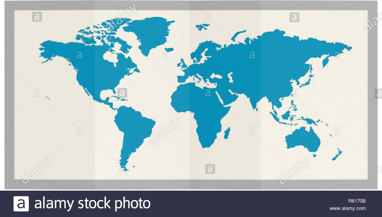 World Map In Frame Isolated Stock Photo 227450171 Alamy