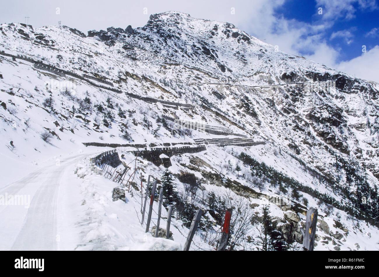 Sela Pass 14, 000 ft., Arunachal Pradesh, India - Stock Image