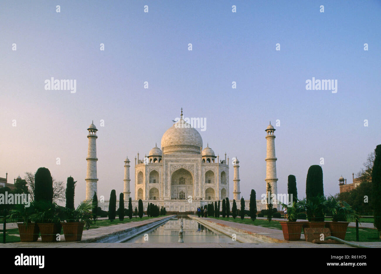Taj Mahal (1631-1653 A .D.), Agra, Uttar Pradesh, India Stock Photo