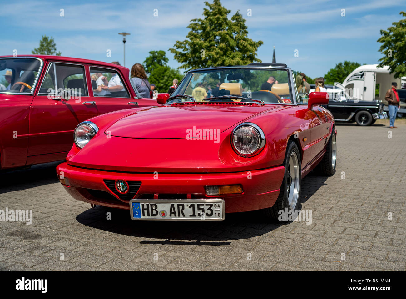 oldtimer alfa romeo spider stock photos oldtimer alfa. Black Bedroom Furniture Sets. Home Design Ideas