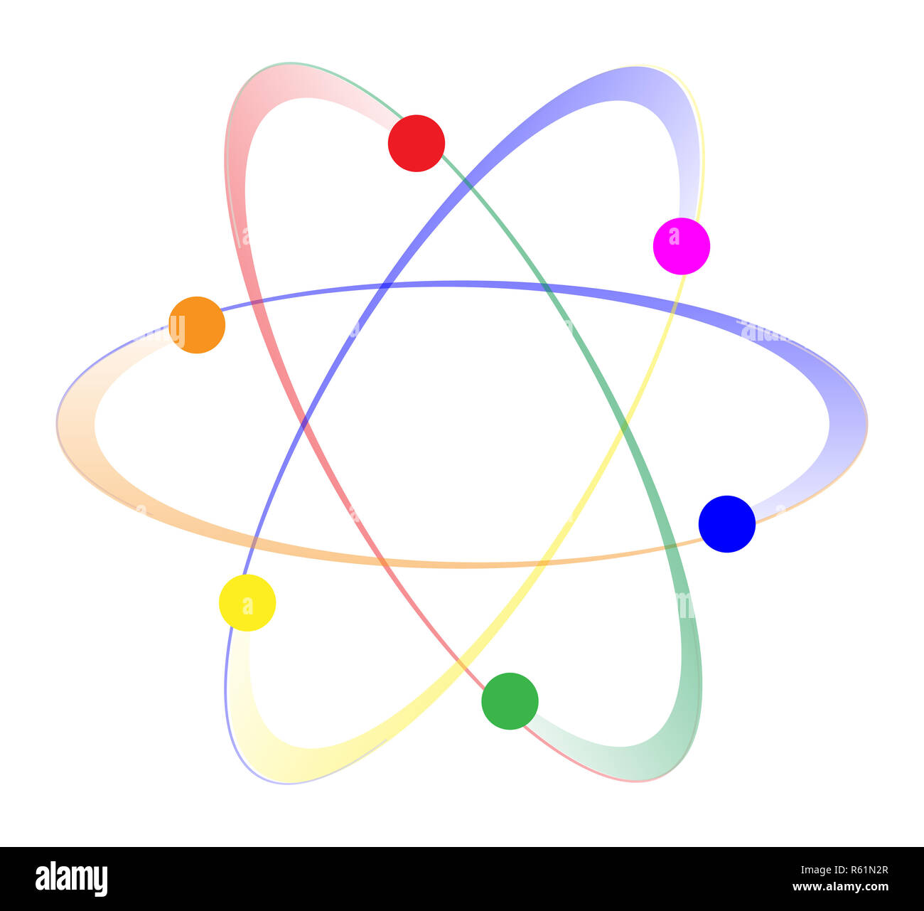 LGBT Whirling Atoms - Stock Image