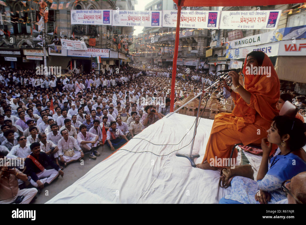 sabha of political leader - Stock Image