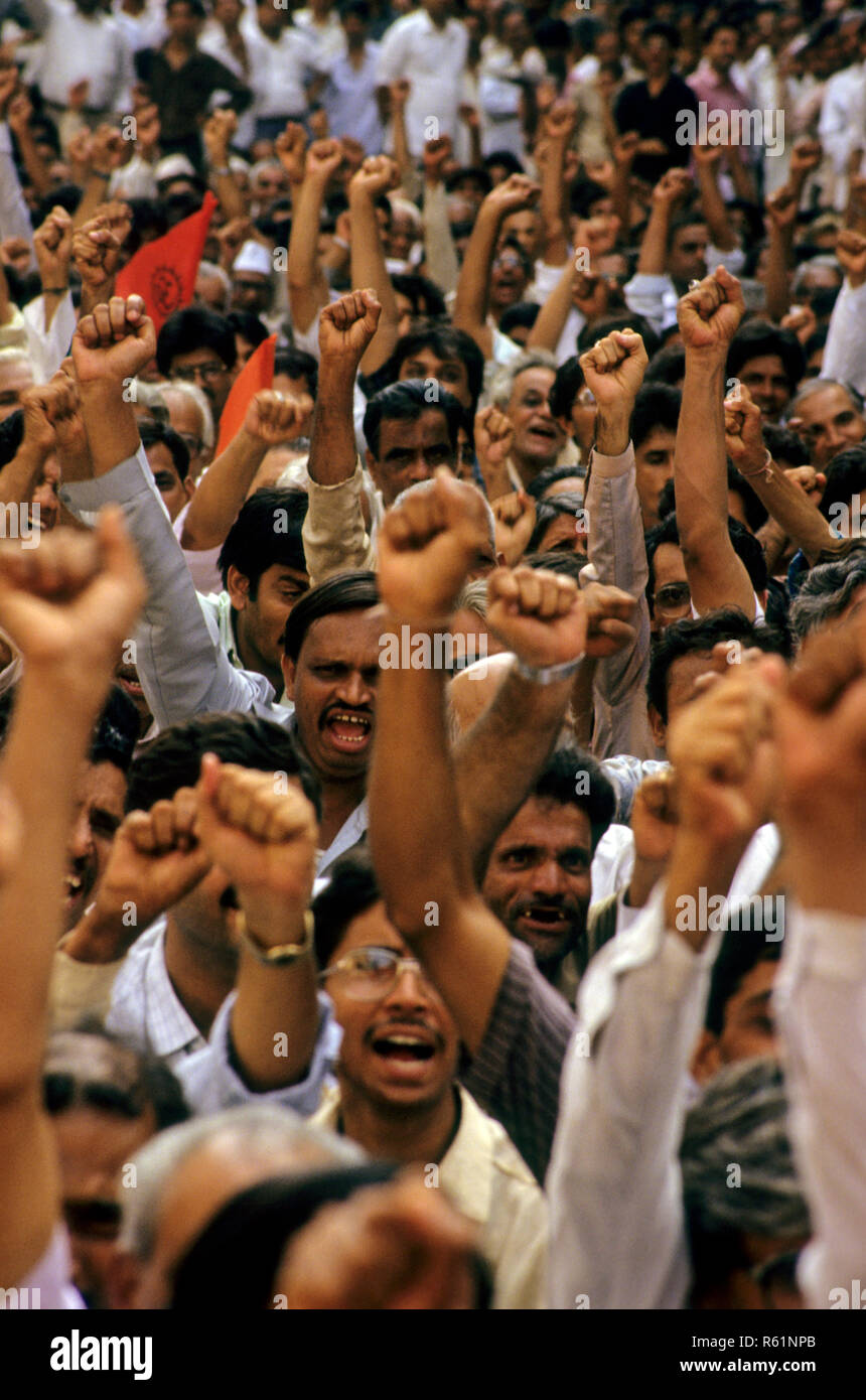 people gathered for meeting, india - Stock Image
