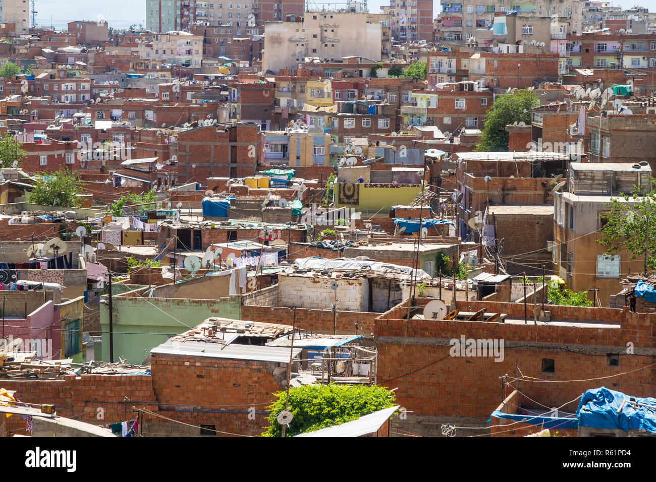 view over the city of diyarbakır,turkey. Stock Photo