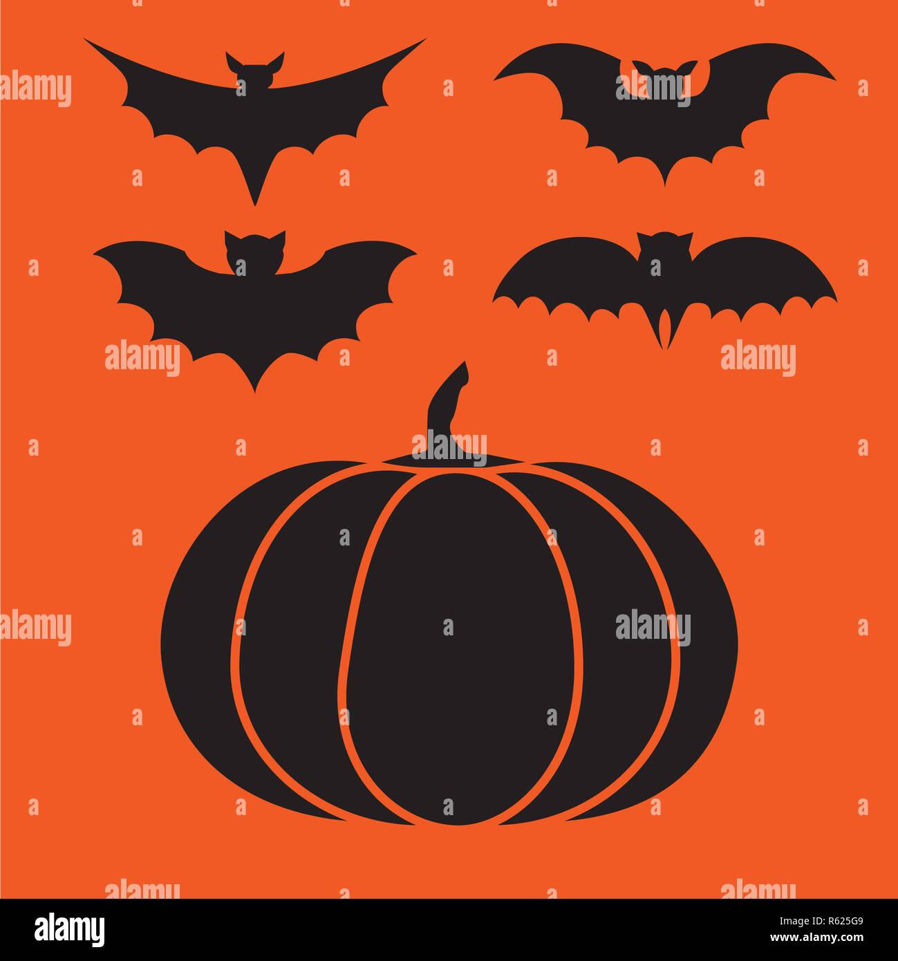 funny halloween vector mystery vampire silhouettes dark spooky bats