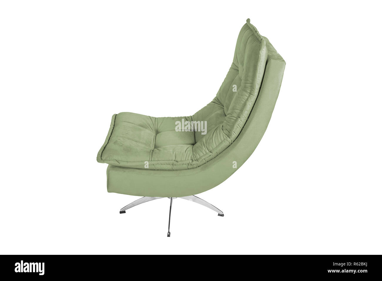 Color Sofa Armchair isolated on white - Stock Image