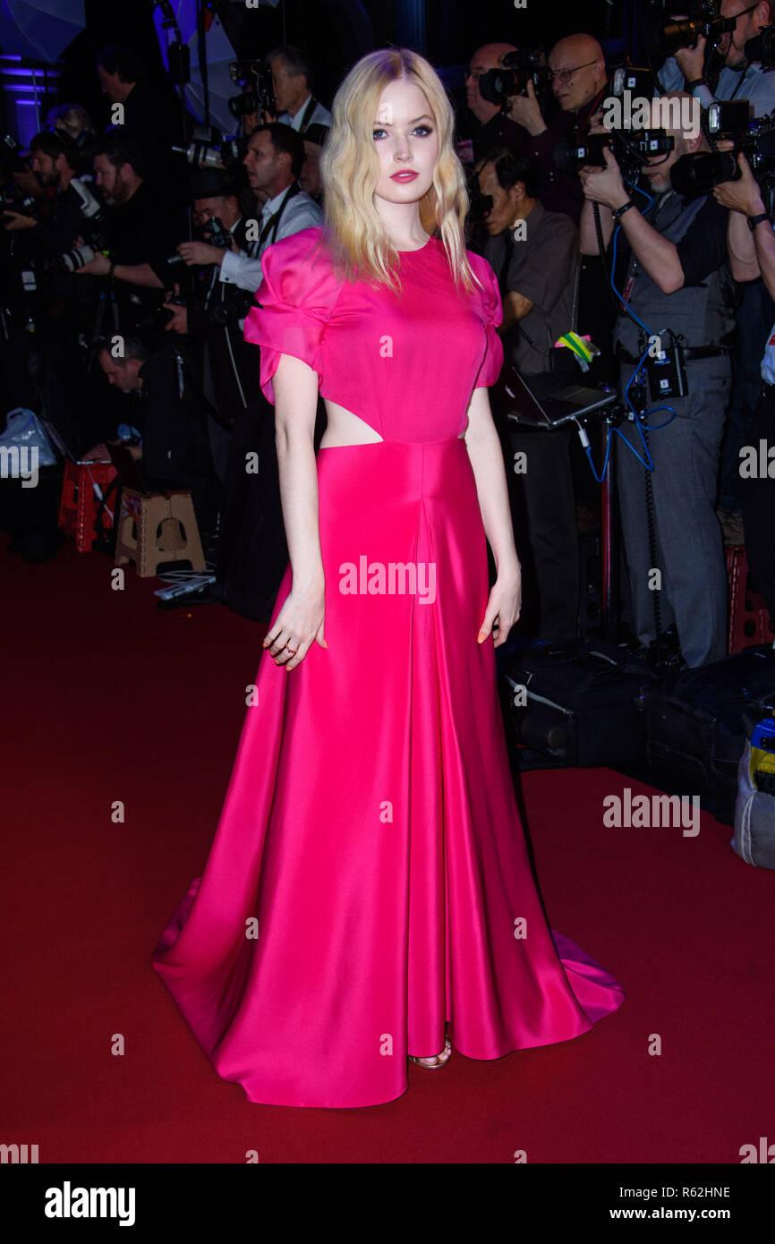 Ellie Bamber attending the twenty-first British Independent Film Awards, held at Old Billingsgate, London - Stock Image
