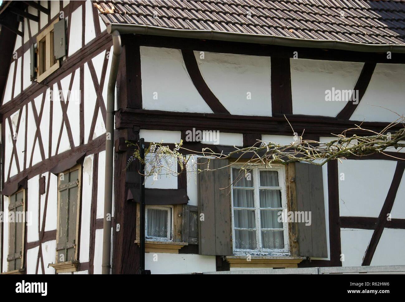 half-timbered house rheinzabern Stock Photo