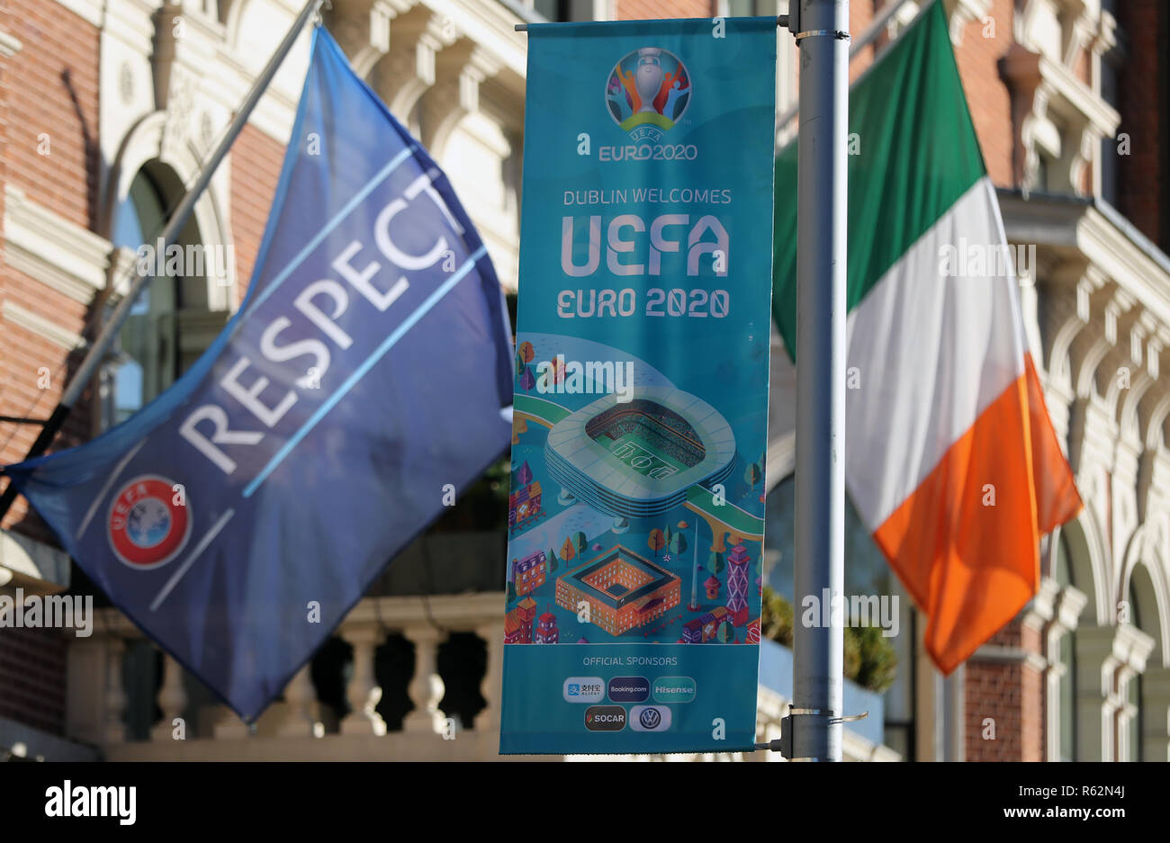 A General View Of Uefa Livery Outside Before The Uefa Nations League Finals Draw At The Shelbourne Hotel Dublin Stock Photo Alamy