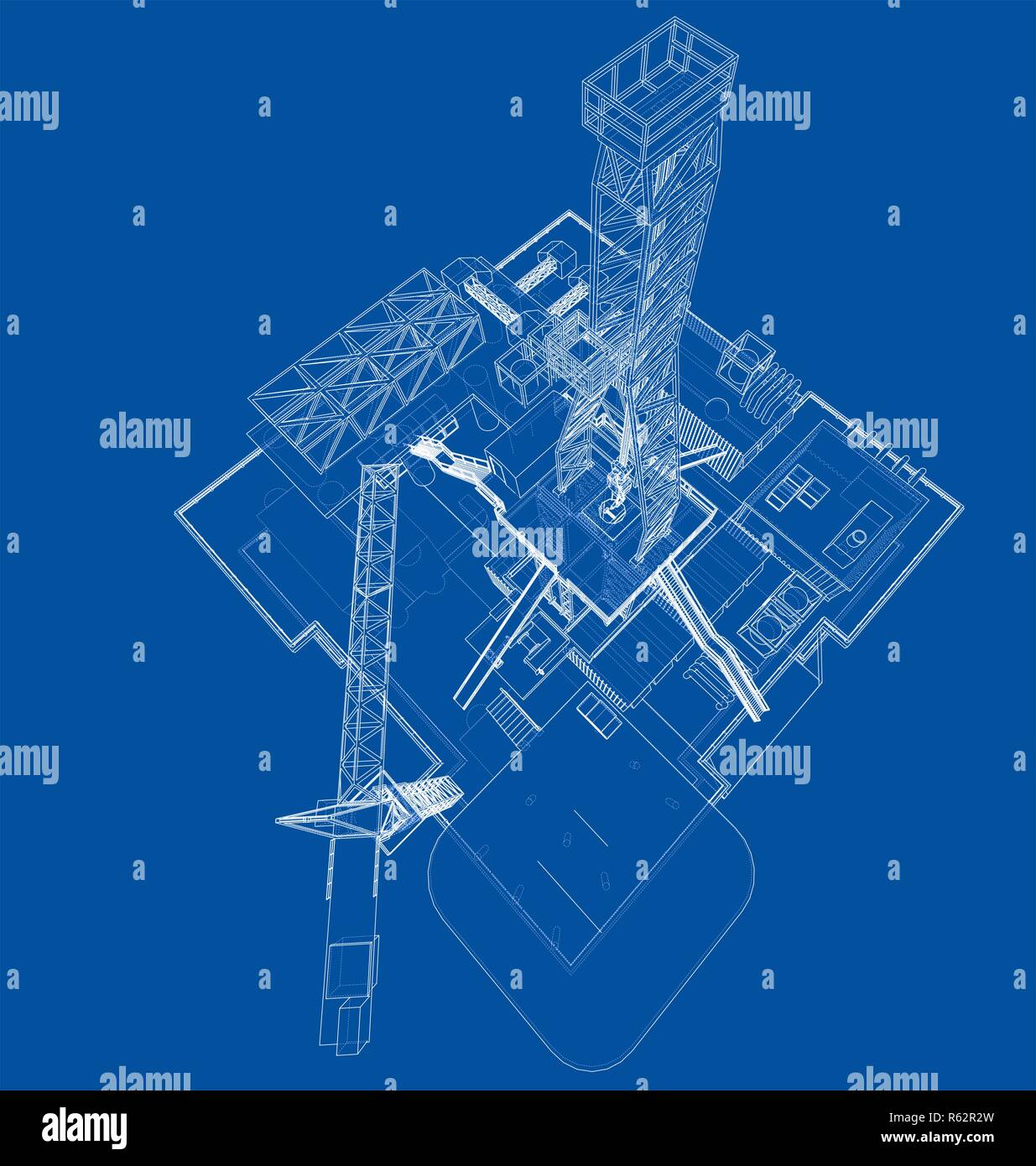 Gas Well Stock Photos Images Page 2 Alamy Schematic Offshore Oil Rig Drilling Platform Concept Image