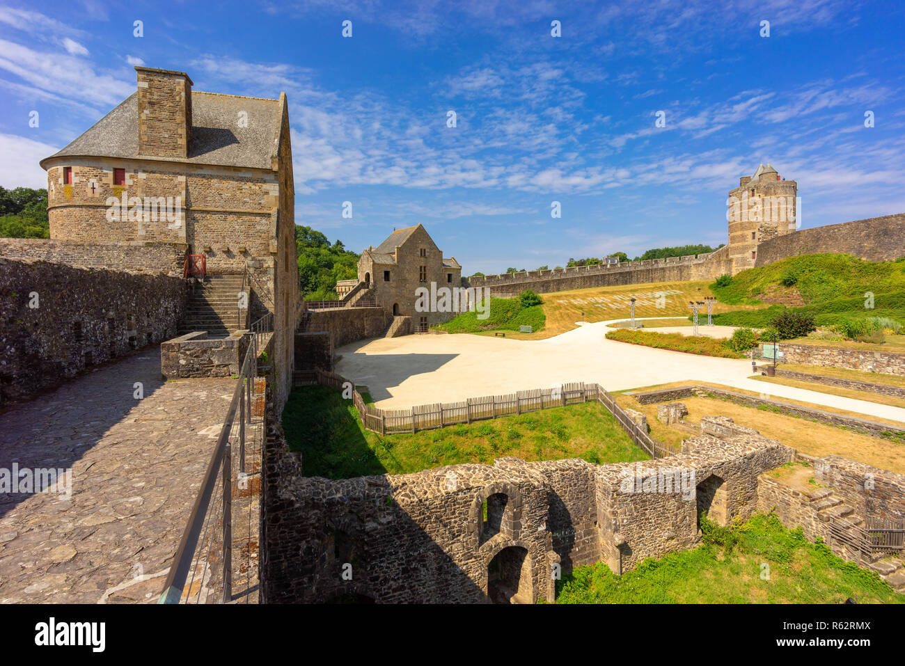 Fougeres castle in Bretagne, France. Stock Photo
