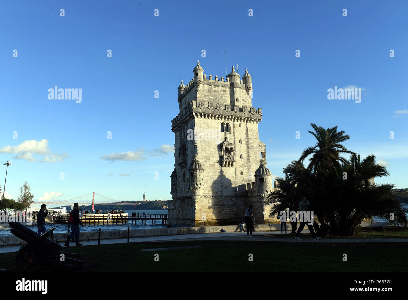 (181203) -- LISBON, Dec. 3, 2018 (Xinhua) -- Photo taken on Nov. 23, 2018 shows the Belem Tower in Lisbon, Portugal. (Xinhua/Zhang Liyun)(mp) - Stock Image