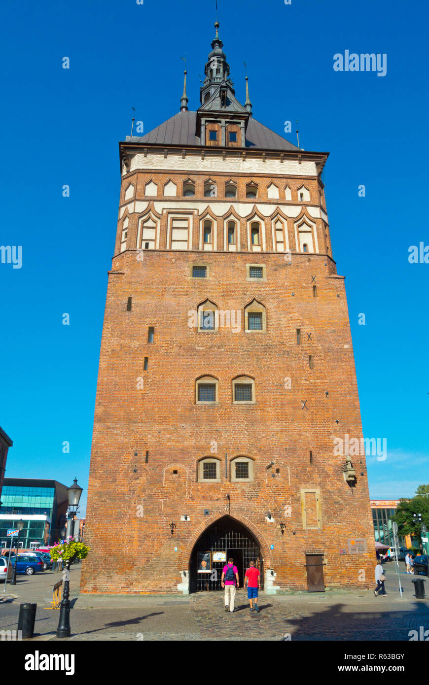Fore Gate, Targ Weglowy, houses Muzeum Bursztynu, the Amber Museum, Gdansk, Poland - Stock Image
