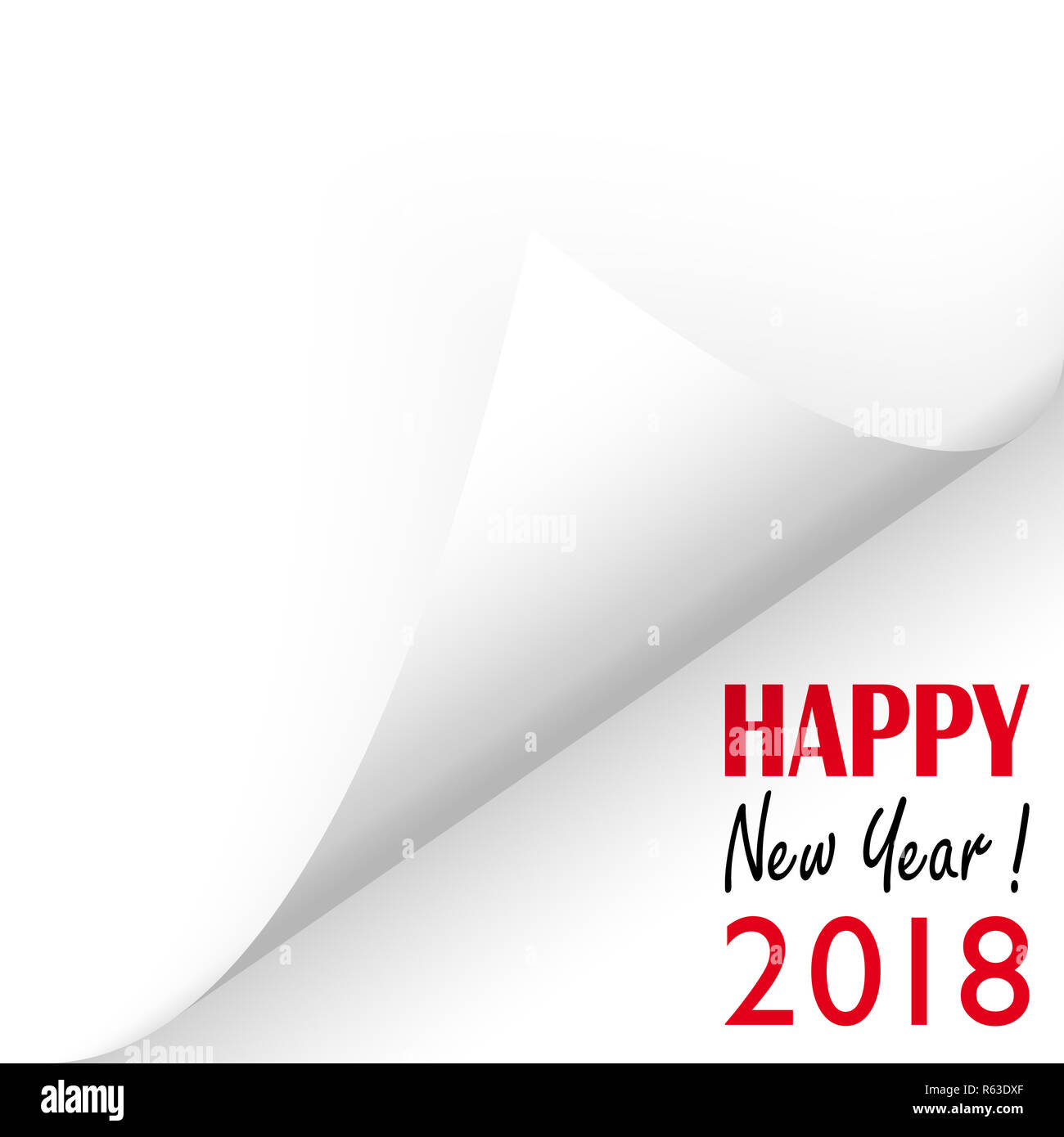 new year 2018 greetings - Stock Image