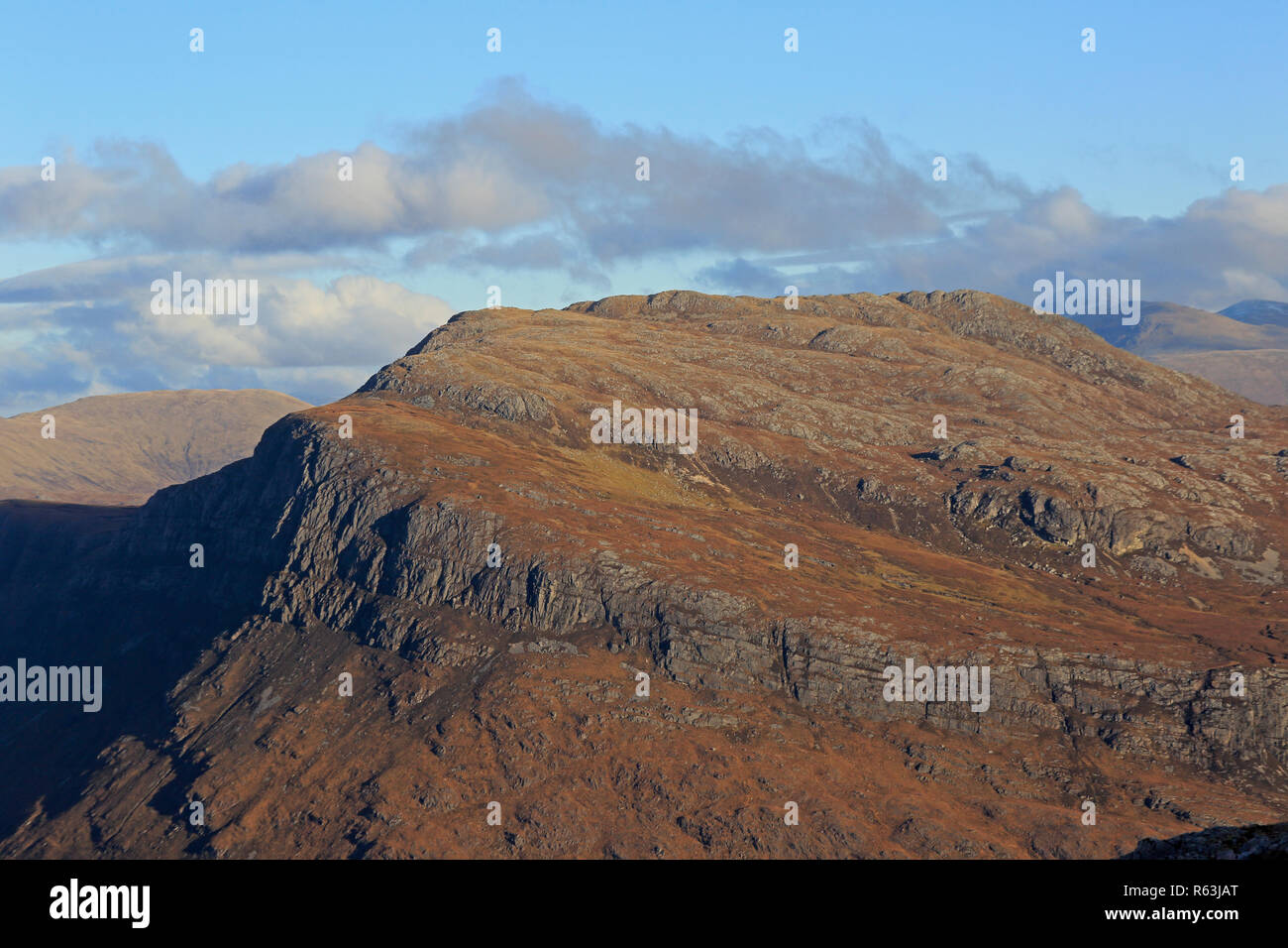 View of Beinn a Mhuinidh over Loch Maree Torridon Scotland - Stock Image