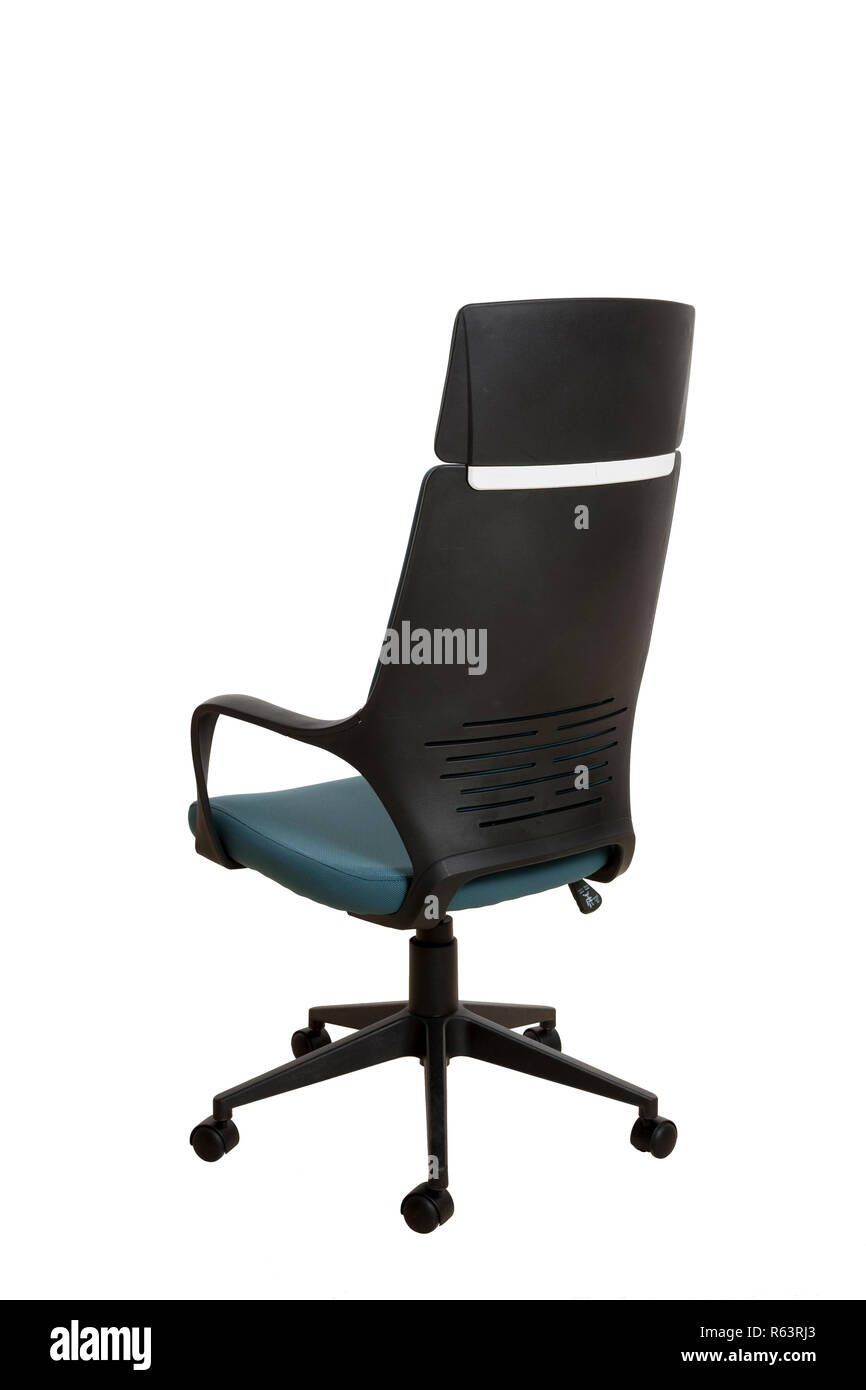 Astonishing Back Side View Of A Modern Office Chair Made Of Black Ncnpc Chair Design For Home Ncnpcorg