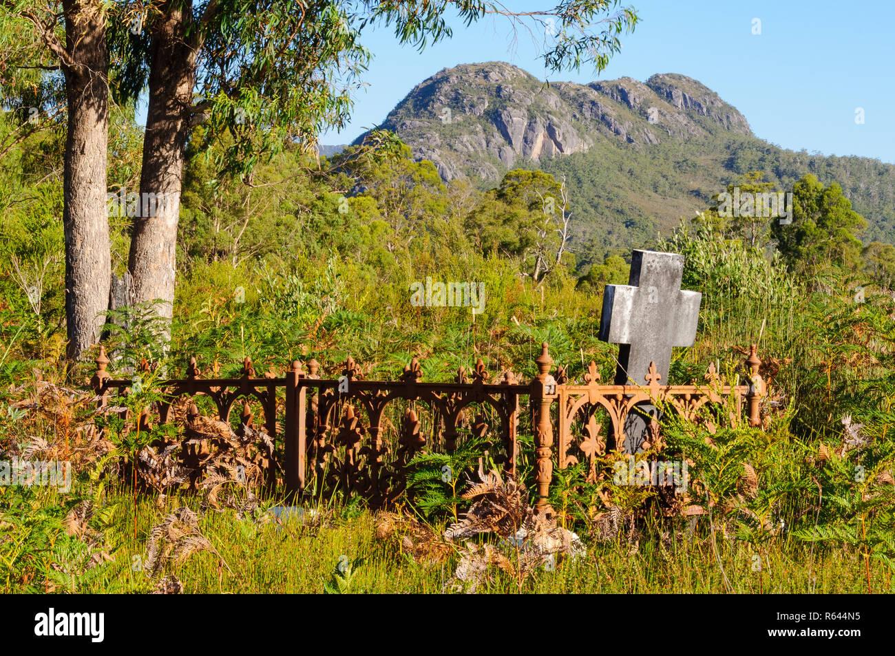 Pioneer Cemetery - Tullah Stock Photo