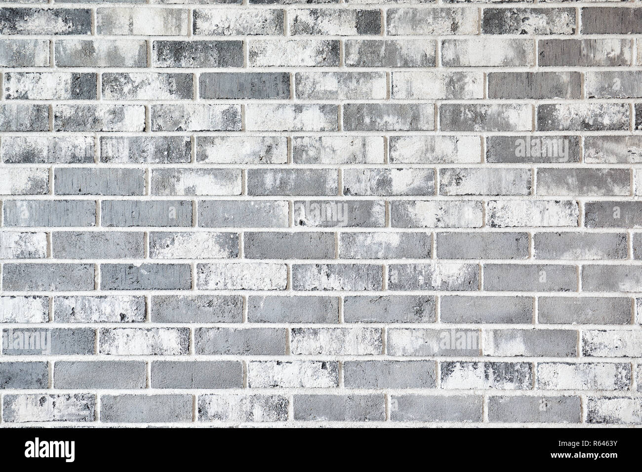 white brick wall background in rural room, - Stock Image