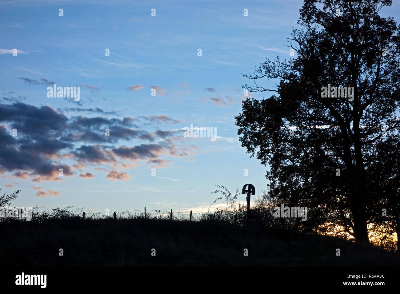 Scenery in Upper Bavaria - Stock Image