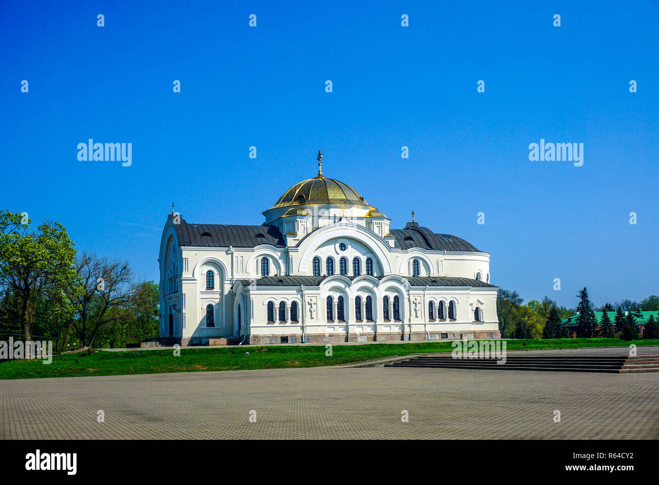 Brest Fortress Hero Complex Orthodox Christian Cathedral - Stock Image