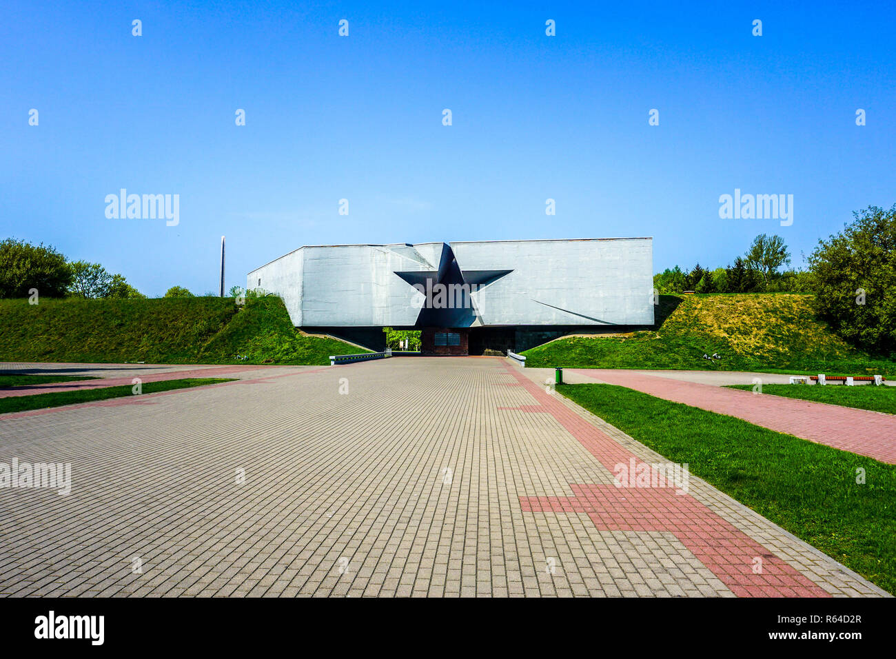 Brest Fortress Hero Complex Star Gate Paved Road - Stock Image