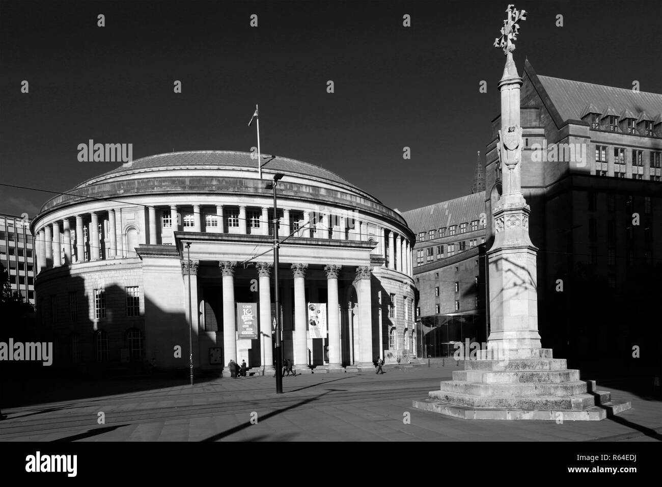 Manchester Central Library, St Peters Square, Manchester City, Lancashire, England, UK - Stock Image
