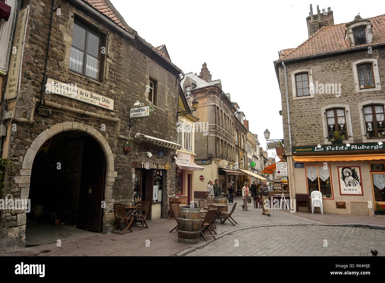 Rue De Lille Boulogne Old Town Stock Photos & Rue De Lille Boulogne ...